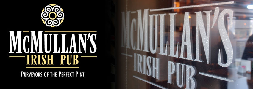 McMullan's etched logo